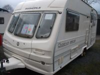 **LIGHTWEIGHT AVONDALE GODVIA 480/2,2- BERTH CARAVAN,GREAT CONDITION,WITH AWNING.**