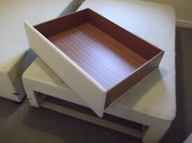 A Kingsize divan bed base with two drawers