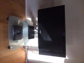 TV mount and glass stand