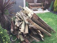 Free decking wood for burning