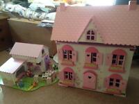 SOLD* ELC wooden dolls house and farmyard