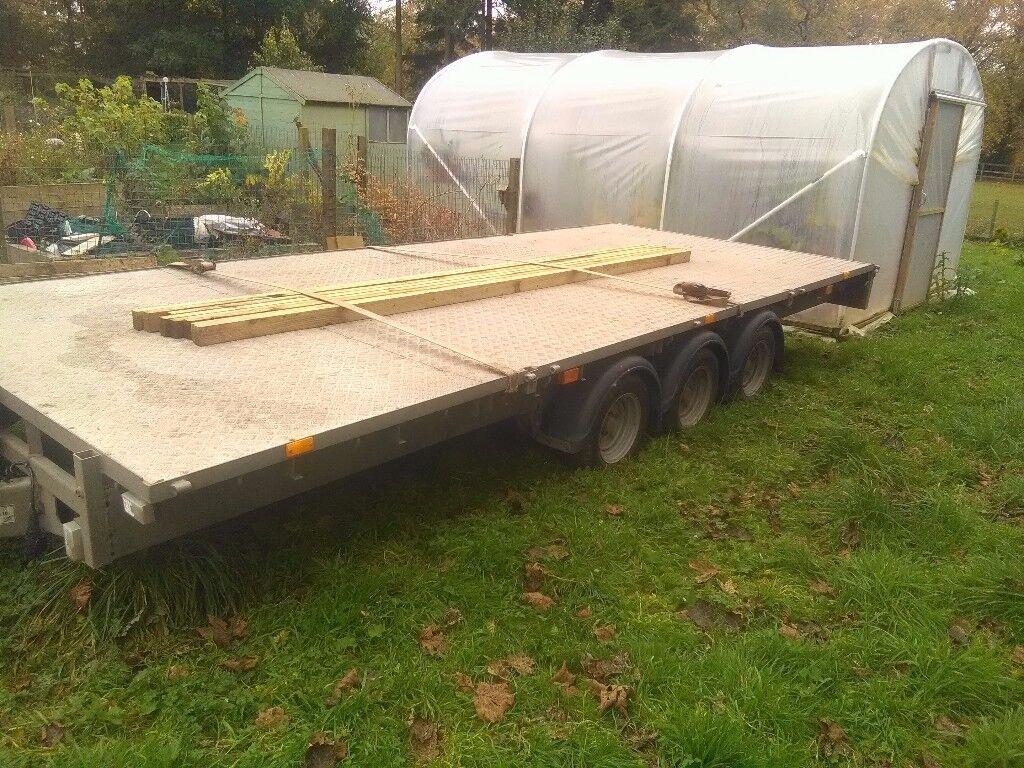 Ifor williams 18 x 7'6 triple axle trailer