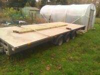 Ifor williams 18 x 7'6 triple axle trailer