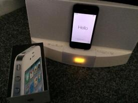 Black iPhone 4 with Philips docking station perfect condition