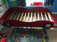 Boys car single bed frame only