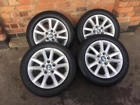 "Bmw 16"" alloy wheels with tyres - 1 3 5 series 5x120 -"