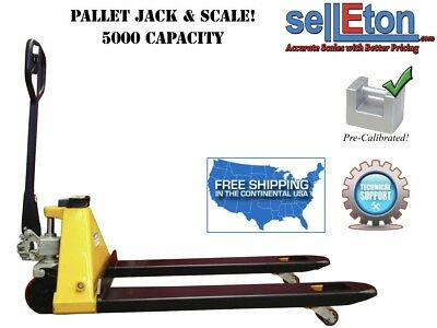 Pallet Jack With Built In Scale 5000 Lbs Industrial Warehouse Shipping