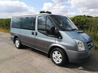 Ford Tourneo 9 seater minibus campervan. A/C, cruise control, Bluetooth, two tone paint.