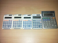 Job lot of 5 x Aurora and Sharp Handheld Calculator