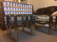 2 Glass Dining Tables + Z-Bed
