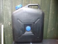 Waste container for caravan/motorhome used