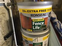 Ronseal one coat fence paint - unopened