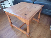 COFFEE TABLE SQUARE WOODEN 55X55X47 TO BE COLLECTED FROM LEITH THE SHORE