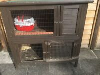 Large strong double rabbit hutch for sale £50 Ono