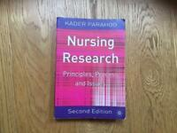 Nursing research; principles, process and issues.