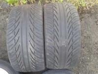 2 X 255/35/18 PART WORN TYRES. BMW AUDI