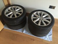 "Genuine VW Golf MK7 Dijon 17"" Alloys x 4"