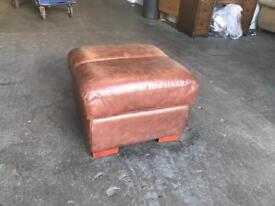 Vintage aniline leather footstool Can delivee