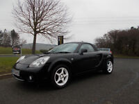 TOYOTA MR2 ROADSTER SPORTS CONVERTIBLE STUNNING BLACK 6 SPEED 2004 BARGAIN 2450 *LOOK* PX/DELIVERY