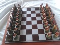 Cowboy and Indian Chess Set
