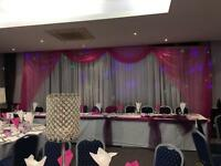 80p Weddings Chair covers Sashes hood wraps Event & Venue Dressing Packages. Backdrapes Wedding Sofa