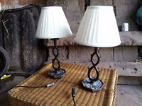 Endon Table Lamps with Cast Iron Base and Shade