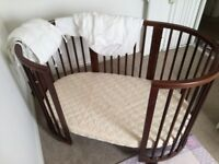 Stokke sleepi cot and converts to cot bed. Cost over £500 new