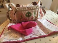 Pink Lining 'Twice As Nice' Twins Nappy Change Bag