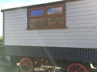 Shepherds Hut. Oak Chassis. Insulated. Double Glazed.Electrics .Stable Door. Laminate Flooring.