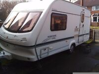 Caravan 2000 Elddis XL Hurricane 2 Berth , Motormover , end bathroom