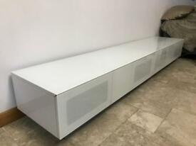 Alphason element modular white tv media unit large