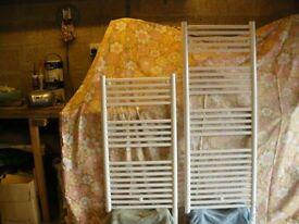 2 Acova oil filled electric towel rails with 2 hour timers for sale.