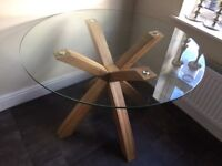 Next Oak & Glass Round Dining Table