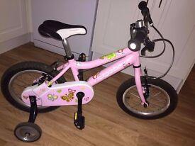"14"" Ridgeback Honey girls Bike with removable stabilsers"