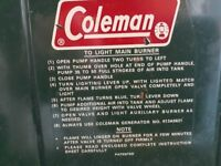 Coleman multifuel stove. Perfect for camping or fishing