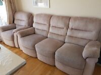 3 seater sofa and armchair recliner