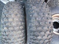 dinli 100 front and rear tyres