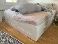 Super King size bed frame Brimmes Ikea