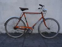 Mens Town / Commuter 3 -Speed Bike by Raleigh, Orange, JUST SERVICED / CHEAP PRICE!!!!!!!!!!