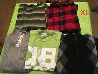 Men bundle of clothing jumpers tops tshirts size XL