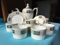 Coalport China Palladian Vintage Tea Set Coffee Set Chocolate Set - 19 piece