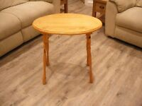 small oval pine occasional table