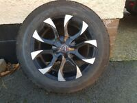 4 Wolfrace 195x165x16 alloy wheels and tyres