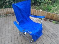 Two folding and reclining camping seats
