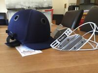 Readers Cricket helmets - boxed, new and unworn, with face guard, navy blue