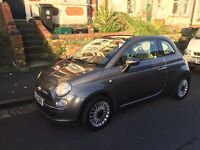 Fiat 500C TwinAir 2011 GREY. Low mileage: 27,000. £0 Road tax. Brilliant car - reluctant sale.