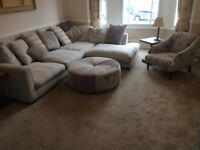 DFS Complete Suite (Corner Sofa,Chair,Stool)