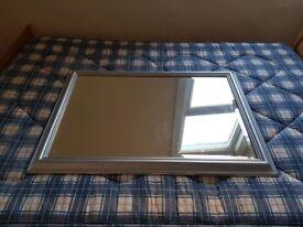 Great looking wall mirror in grey finish