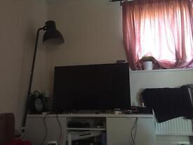Long white IKEA tv unit