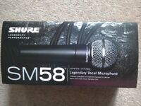 SHURE SM58,&STAND, NEW & UNUSED.